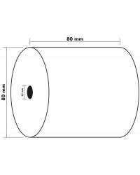 Exacompta bobine papier thermique caisse 80x80x12 85M 43809E