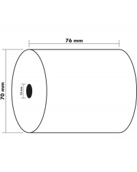 Exacompta bobine papier caisse 76X70X12MM 44M 1 Pli offset 7670120V