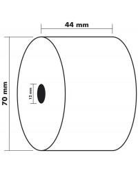 Exacompta bobine papier thermique caisse 44X70X12MM 60M 42150E