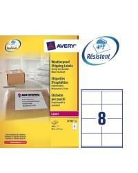 Avery paquet 200 étiquettes d'expédition blanches 99.1X67.7 LASER L7993-25