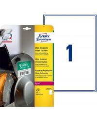 Avery boite 10 étiquettes A4 polyéthylène ultra résistantes 210X297 LASER L7917-10