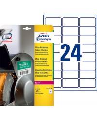 Avery boite 240 étiquettes polyéthylène ultra résistantes 63.5X33.9 LASER L7912-10