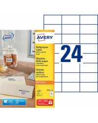 Avery paquet 2400 étiquettes blanches multi usages 70X37 3474-100