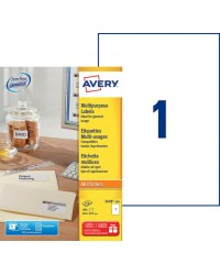Avery paquet 100 étiquettes blanches A4 multi usages 210X297 3478-100
