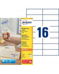 Avery paquet 1600 étiquettes blanches multi usages 105X37 3484-100