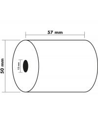 Exacompta Bobine de papier, Calculatrice, 57x50x12 mm, 20 m, 40346E