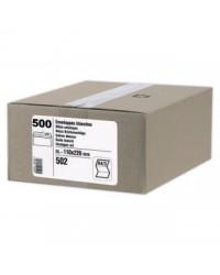 GPV Carton 500 enveloppes DL 110x220 blanches 80g auto adhésives avec bande de protection 502
