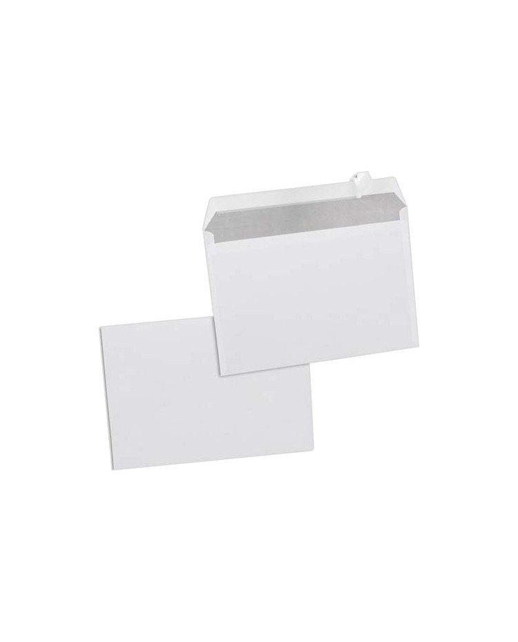 GPV Carton 500 enveloppes C5 162x229 blanches 80g auto adhésives 597