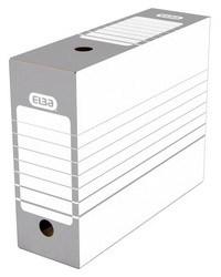 Elba Boites a archives, 100mm, Fond automatique, Gris/Blanc, 400064940