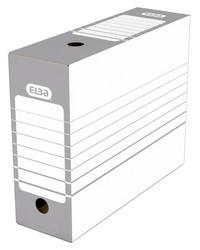 ELBA boîte d'archives, largeur 100 mm, A4, gris / blanc