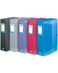 Elba boite de classement plastique dos 6 cm HAWAI polypro couleurs assorties 100200192