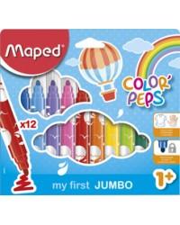 Maped, Feutres, Color'Peps, My first Jumbo, étui carton de 12, M846020