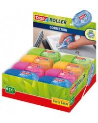 Tesa ecoLogo Mini roller de correction jetable, 5 mm x 6 m