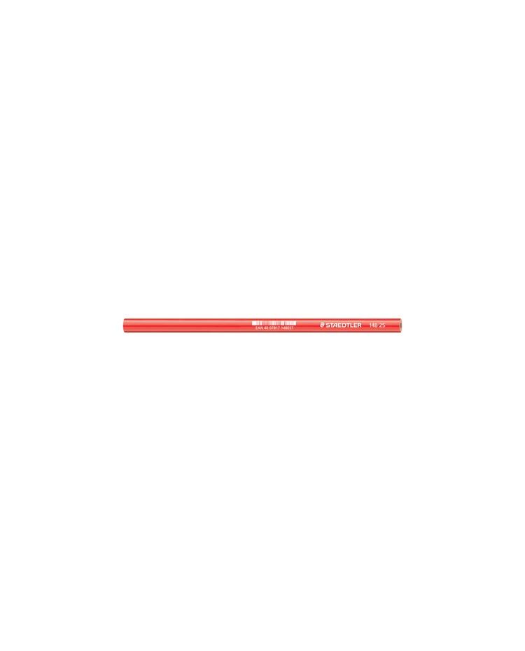 STAEDTLER Crayon de charpentier, ovale, marron rouge
