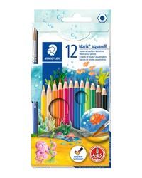 Staedtler, Crayons Aquarelle, Noris, étui carton de 12, 144 10NC12