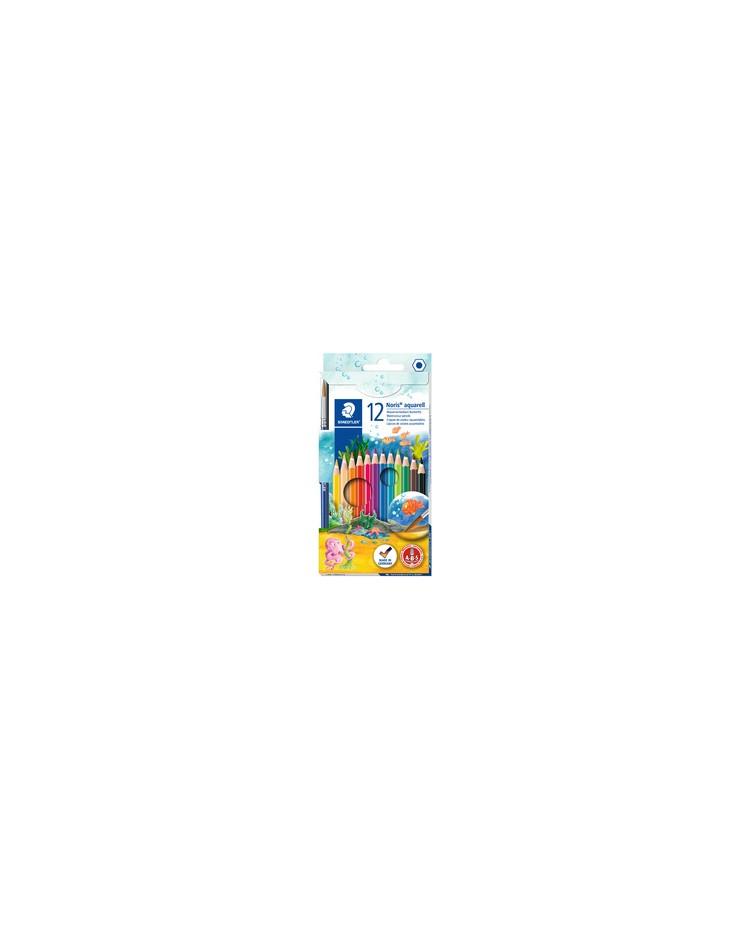 STAEDTLER Crayon aquarelle Noris, étui carton de 12, 144 10NC12