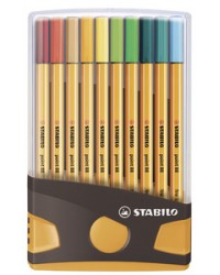 STABILO Feutre à pointe fine point 88, ColorParade de 20 pcs, 8820-03-05