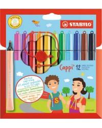 STABILO Feutres de coloriage, Cappi, étui en carton de 12, 168/12-4