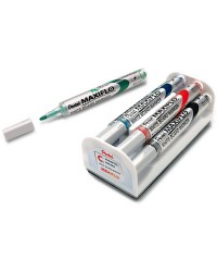 Pentel Set marqueur pour tableau blanc MAXIFLO MWL5S-4N