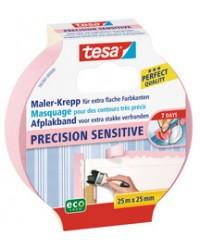 Tesa Adhésif de Masquage pour contours très précis Precision, 25mm x 25m, 56260-0-0
