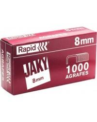 Rapid Agrafes JAKY8, 8mm, Cuivre, Boîte de 1000, 11720101