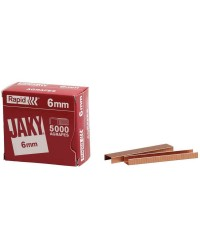 Rapid Agrafes JAKY6, 6 mm, Cuivre, Boîte de 5000, 11720001