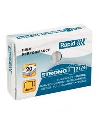 Rapid Agrafes 21/4, Strong, Galvanisé, Boite de 5000, 24867400