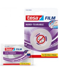 Tesa Film Ruban adhésif, déchirable à main, transparent, 57520-0-0