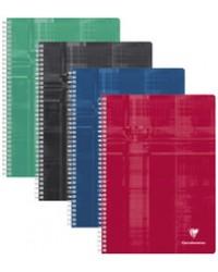 Clairefontaine Cahier à spirale A4, 210x297mm, Grands carreaux séyès, 100 pages, 68141C