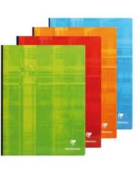 Clairefontaine Cahier 24x32, Quadrillé 5x5, Brochure rembordée, 192 pages petits carreaux, 69342C
