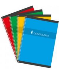 Conquerant Cahier à spirale A4, Grands carreaux séyès, 100 pages, 100102398