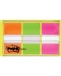 Post-it Marque-pages Index, 25,4 x 43,2 mm, 3 couleurs