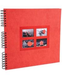 Exacompta Album photo à spirale, Passion, 60 pages, 32 x 32, Rouge, 16845E