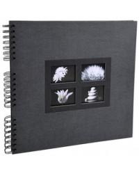 Exacompta Album photo à spirale, Passion, 60 pages, 32 x 32, Noir, 16841E