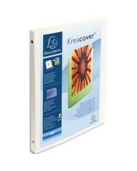 Exacompta classeur personnalisable 4 anneaux KREACOVER A4 BLANC 51189E