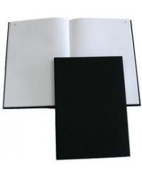 Elve Registre en toile, Quadrillé 5x5, A4 210 x 297 mm, 200 pages petits carreaux, Noir, A442131