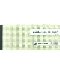 Exacompta Carnet à souche, Quittances de loyer, 135x185mm, 50 feuilles, 40E