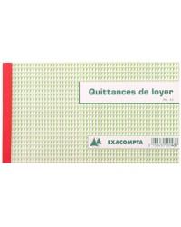 Exacompta Manifold Quittances de loyer, 125x210mm, 50 Triplicata autocopiants, 43E