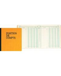 Exacompta Registre piqure, Position de compte, 210 x 190 mm, 80 Pages, 950E