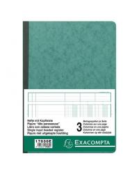 Exacompta Registre piqure, 3 colonnes, Tete paresseuse, A4 210 x 297 mm, 80 pages, 17030E
