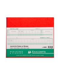 Exacompta Registre piqure, Journal de caisse, Banque, 31 Lignes, 80 Pages, 270 x 320mm, 6800E