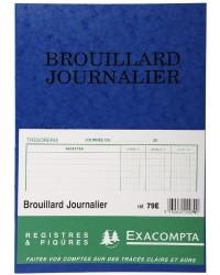 Exacompta Registre piqure, Brouillard journalier, 40 pages, 270 x 195 cm, 79E