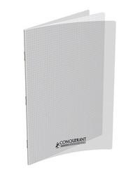 Conquerant Cahier 24x32, Quadrillé 5x5, 48 pages petits carreaux, Couverture polypro INCOLORE, 400037800