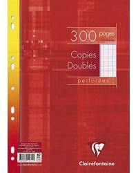 Clairefontaine 300 Copies doubles perforées, A4, séyès, 14711C