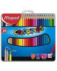 Maped boîte métal 24 crayons de couleur 832016