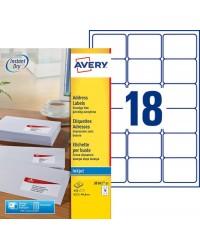 Avery boîte 450 étiquettes jet encre 63.5x46.6 J8161-25