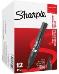 Sharpie marqueur permanent W10, pointe biseautée, noir, S0192654