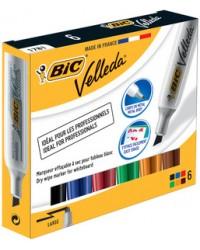 BIC Marqueur pour tableau blanc Velleda, pointe biseautée, 875788