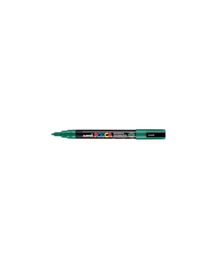 POSCA Marqueur à pigment PC-3M, Vert foncé, PC3M VF, FIN