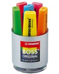 STABILO Surligneur BOSS ORIGINAL, boîte ronde de 6, F21457